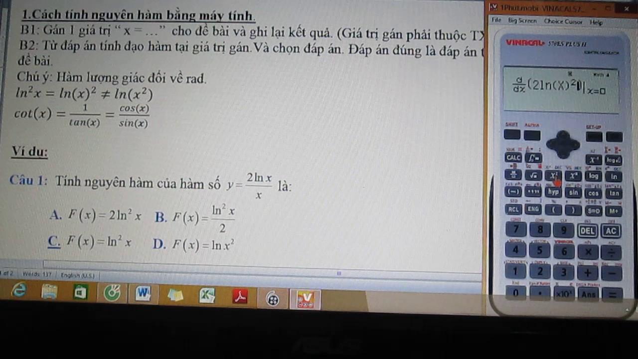 Giải toán bằng máy tính cầm tay