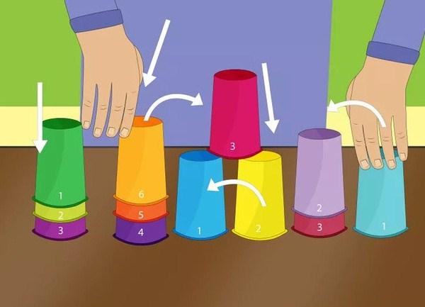 Học phép toán đếm thú vị với những chiếc cốc nhựa