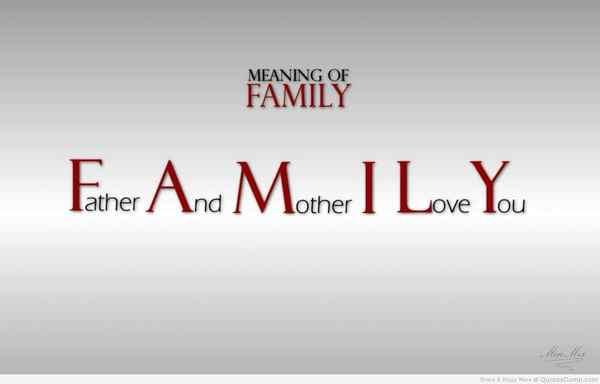 Chủ đề gia đình thân thương