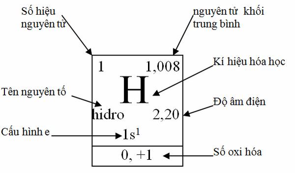 Bảng tuần hoàn các nguyên tố hóa học cho biết gì