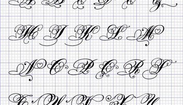 Mẫu chữ được viết hoa nghiêng đẹp