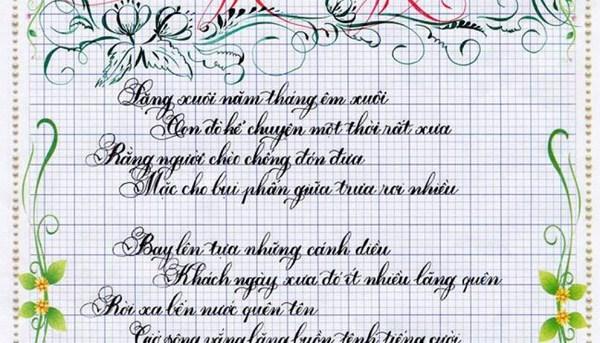 Sử dụng vở ô ly mang đến luyện chữ đẹp lớp 2 có hiệu quả