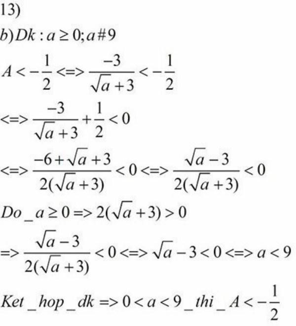 Một bài giải mẫu kết hợp các điều kiện để đưa ra kêt quả chính xác nhất